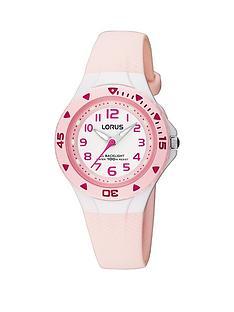 lorus-kids-pink-polyurethane-strap-watch