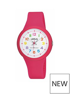 lorus-kids-pink-silicone-strap-watch