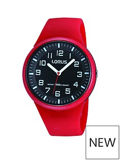 lorus-unisex-red-silicone-strap-watch