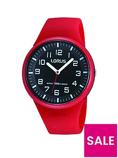 lorus-unisex-red-silicone-strap-watch