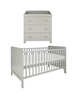 little-acorns-cot-bed-amp-changer-nursery-furniture-set-grey-buy-and-save