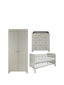 little-acorns-cot-bed-changer-amp-wardrobe-nursery-furniture-set-grey-buy-and-save
