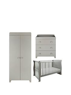 little-acorns-little-acorns-sleigh-cot-bed-changer-amp-wardrobe--grey-buy-and-save