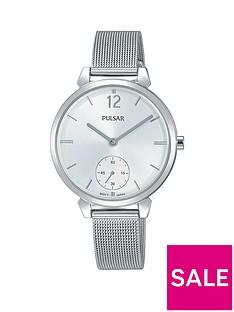 pulsar-stainless-steel-mesh-bracelet-silver-dial-ladies-watch