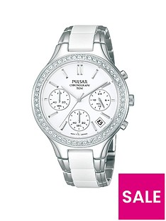 pulsar-stainless-steel-bracelet-with-ceramic-inlay-chronograph-dial-ladies-watch