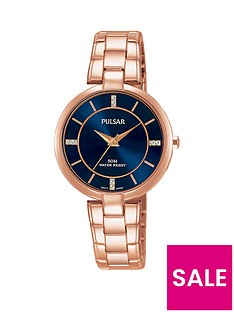 pulsar-rose-gold-plated-stainless-steel-bracelet-blue-dial-ladies-watch