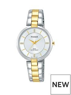 pulsar-two-tone-stainless-steel-bracelet-silver-dial-ladies-watch