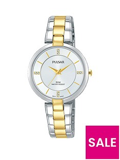 pulsar-two-tone-stainless-steel-bracelet-silver-dial-ladies-watch