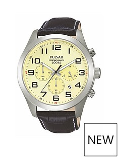 pulsar-mens-chronograph-watch-with-a-stainless-steel-case-and-black-leather-strap-featuring-a-cream-dial