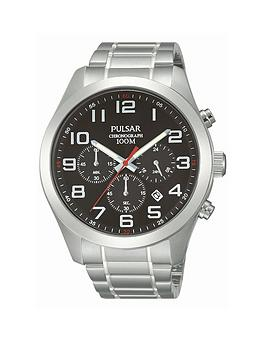 pulsar-mens-chronograph-watch-with-a-stainless-steel-case-and-bracelet-featuring-a-black-dial