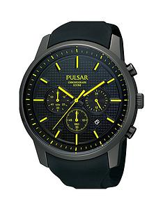 pulsar-mens-chronograph-watch-with-a-black-ion-plated-stainless-steel-case-and-polyurethane-strap-featuring-a-black-dial