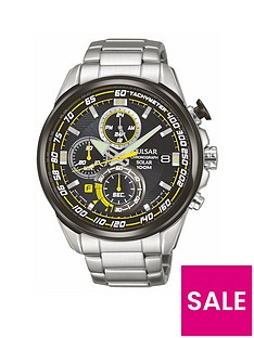 pulsar-mens-solar-chronograph-watch-with-a-stainless-steel-case-and-bracelet-featuring-a-black-dial