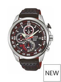 pulsar-pulsar-men039s-solar-chronograph-watch-with-a-stainless-steel-case-and-black-leather-strap-featuring-a-black-dial