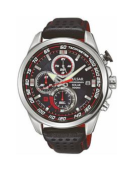 pulsar-pulsar-mens-solar-chronograph-watch-with-a-stainless-steel-case-and-black-leather-strap-featuring-a-black-dial