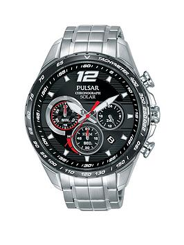 pulsar-pulsar-mens-solar-chronograph-watch-with-a-stainless-steel-case-and-bracelet-featuring-a-black-dial