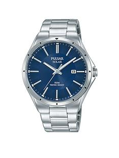 pulsar-mens-solar-watch-with-a-stainless-steel-case-and-bracelet-featuring-a-blue-dial