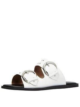 Call It Spring Gworien Two Band Slide - White