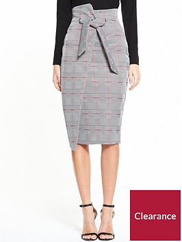 v-by-very-check-wrap-skirt
