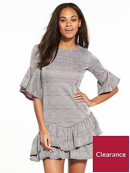 v-by-very-check-frill-jersey-dress