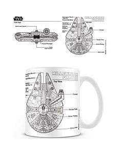 star-wars-millenniumnbspfalcon-sketch-coffee-mug