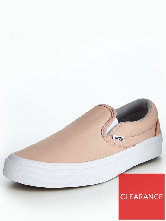 6ce299eae1 Vans UA Classic Slip-On Leather - Pink