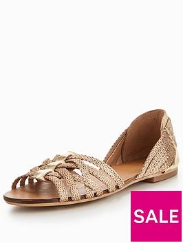 oasis-mesh-woven-haurachenbspflat-shoe-gold