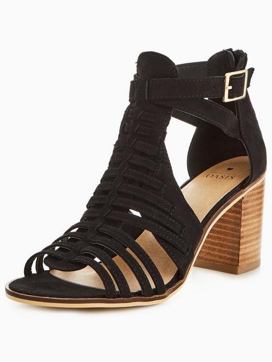 ba6db055291e3 Oasis Strappy Block Heel Sandal