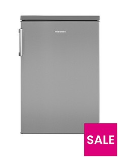 hisense-rl170d4bc2-55cmnbspwide-under-counter-fridge--nbspstainless-steel-effect