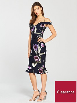 ax-paris-print-strappy-dress-navy