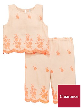 mini-v-by-very-toddler-girls-2-piecenbspfluro-embroidered-co-ord-set-coral