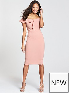 ax-paris-off-the-shoulder-frill-front-midi-dress-blush
