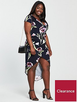 ax-paris-curve-capped-sleeve-wrap-floral-dress