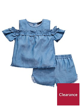 mini-v-by-very-toddler-girls-2-piece-cold-shoulder-tencel-top-and-shorts-set-denim