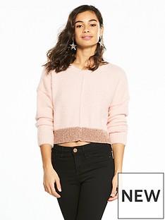 miss-selfridge-petite-fluffy-jumper-pink