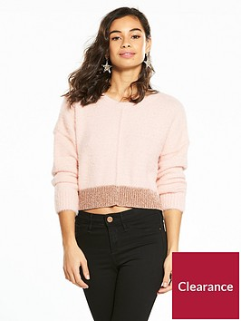 miss-selfridge-petite-fluffy-jumper-pink