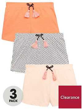 mini-v-by-very-girls-3-pack-tassel-detail-shorts