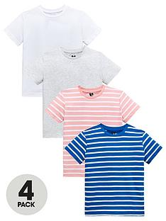 mini-v-by-very-boys-4-pack-marl-and-slub-stripe-tees