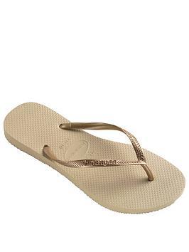 Havaianas Slim Flip Flop Sandal - Gold