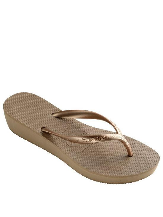 fb8f00f9cc9a Havaianas High Light Wedge Flip Flop Sandal - Rose Gold