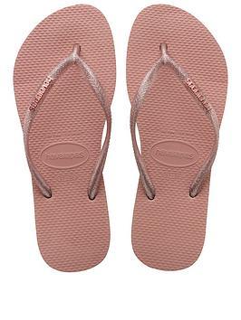 Havaianas Havaianas Slim Logo Metallic Flip Flop Sandal