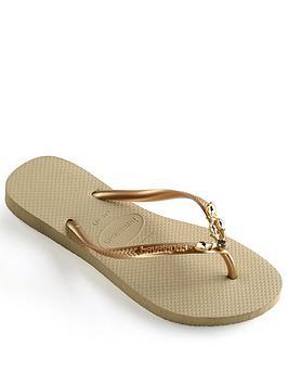 Havaianas Slim Lux Flip Flop Sandal - Gold