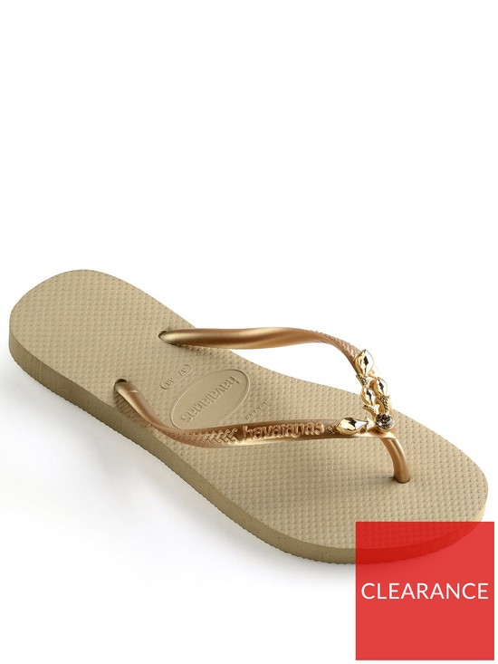 b909e0ea5 Havaianas Slim Lux Flip Flop Sandal - Gold