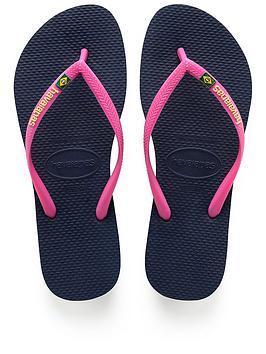 Havaianas Slim Brasil Flip Flop Sandal - Navy