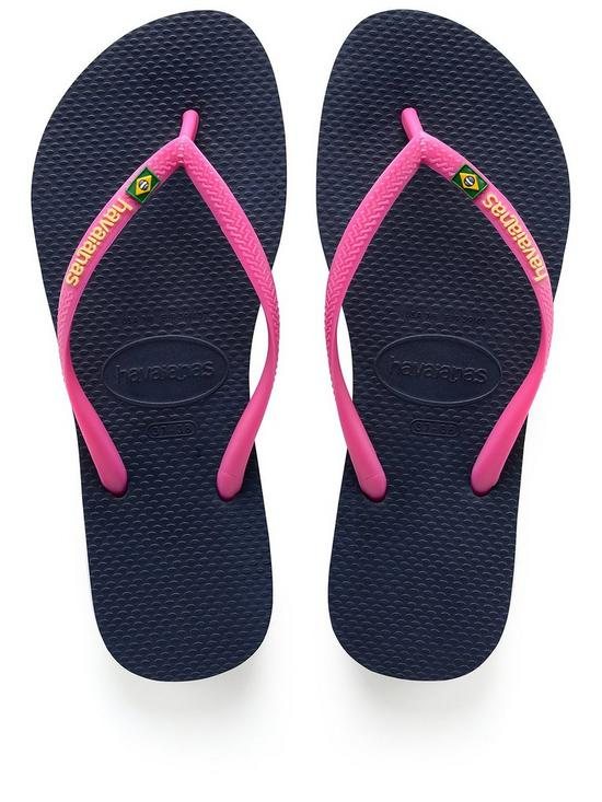 51e7111a19180 Slim Brasil Flip Flop Sandal - Navy
