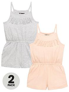 mini-v-by-very-girls-2-pack-fringe-detail-playsuits