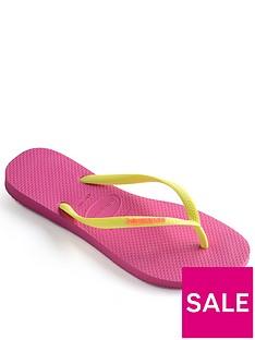 f7101d1ab38415 Havaianas Slim Logo Flip Flop Sandal - Pink