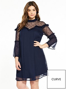 lost-ink-curve-swing-dress-with-pretty-lace-navy