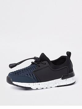 river-island-mini-boys-navy-mesh-runner-trainers