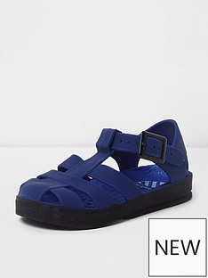 river-island-mini-boys-blue-jelly-cage-sandals
