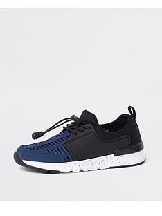 river-island-boys-navy-mesh-runner-trainers